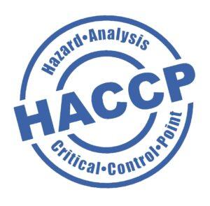 Simbolo del sistema HACCP fatto come un timbro